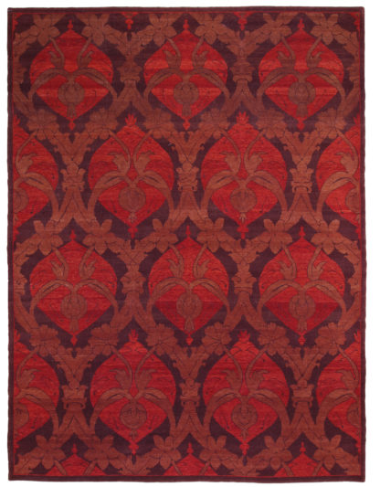 Hand Knotted Turkish 9 'x 12' Red Wool Area Rug