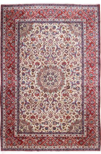 Isfahan Najafabad 11x16 Red Ivoy Wool Area Rug