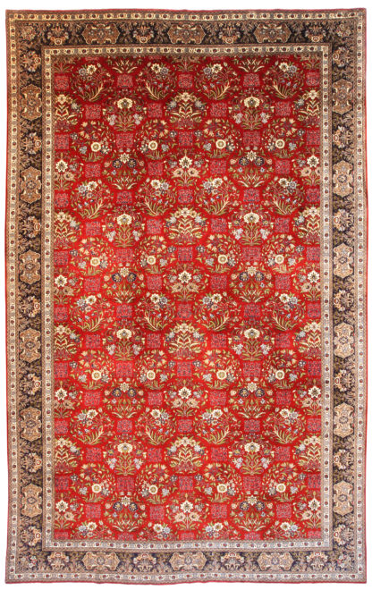 Persian Tabriz Wool 9x14 Red Area Rug