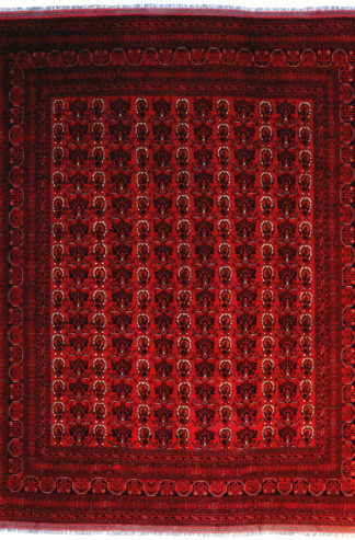 Fine Khal Mohammadi 10x12 Red Black Area Rug