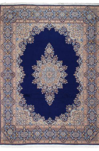 Persian Kerman Wool 9x14 Blue Area Rug