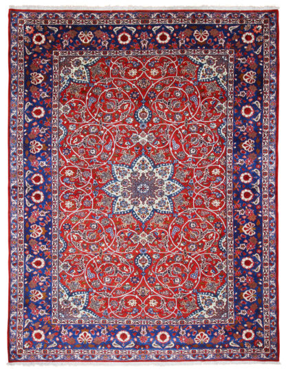 Hand Knotted Persian Isfahan 10x13 Area Rug