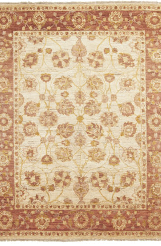 Hand Knotted Chobi 6x8 Beige Brown Area Rug