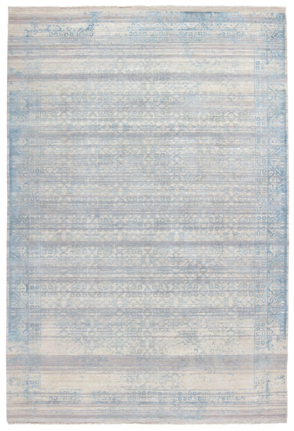 Pearl Transitional 6x9 Blue Ivory Area Rug