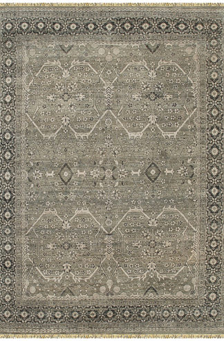Hand Knotted Wool 8'x10' Gray Transitional Area Rug