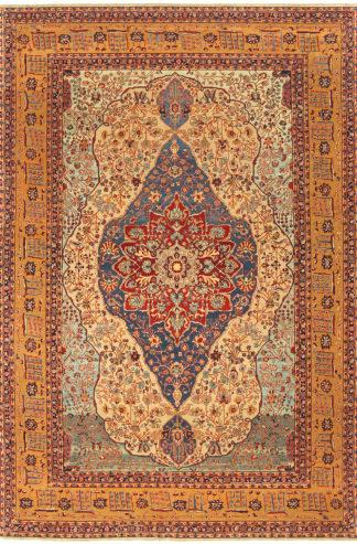 Kashan Mohtasham Design Turkish 6' x 9' Area Rug