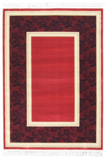 Machine Made 5′ x 7′ Red Gold Area Rug