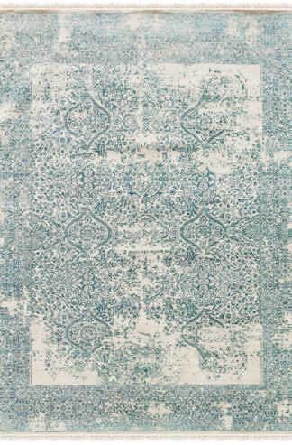 Mulberry Transitional 6'x9' Ivory Turquoise Area Rug
