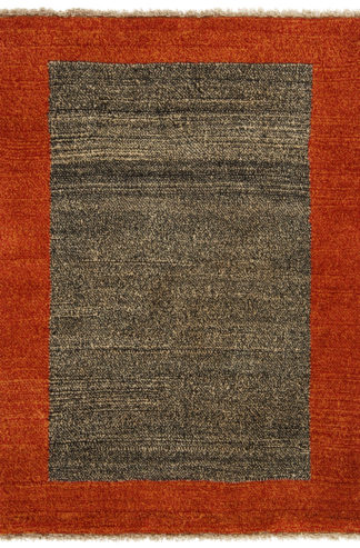 Persian Gabbeh 4x5 Rust Blue Area Rug