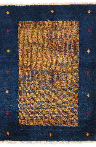 Persian Gabbeh 4x5 Blue Wool Area Rug