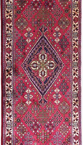 Persian Meymeh Runner 3x13 Burgundy Blue Wool Area Rug