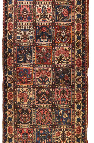 Persian Bakhtiari Runner 3x8 Wool Area Rug