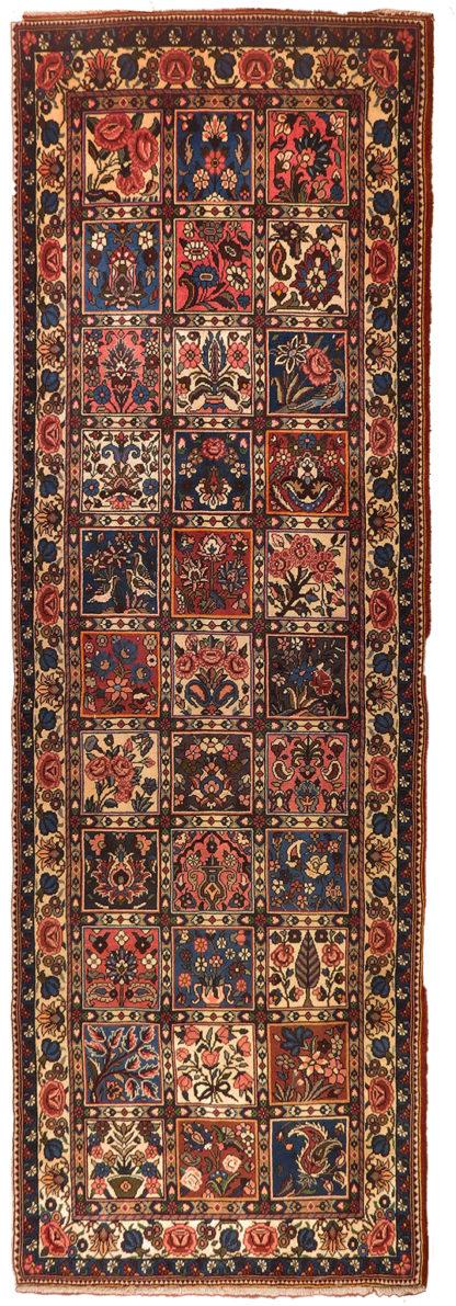 Persian Bakhtiari Runner 3x8 Wool Area Rug