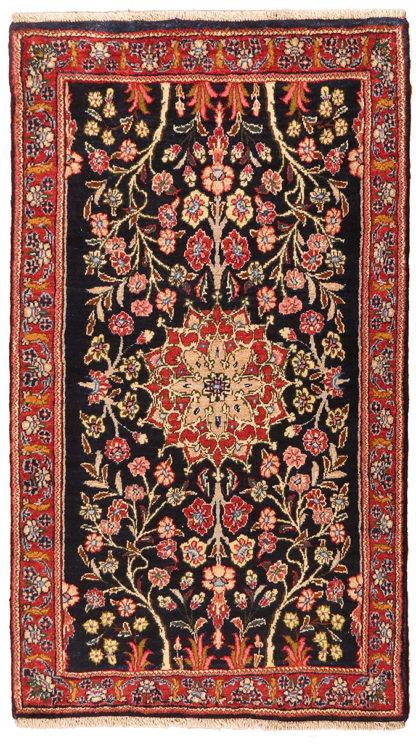 Persian Koliai 3x4 Red Navy Wool Area Rug