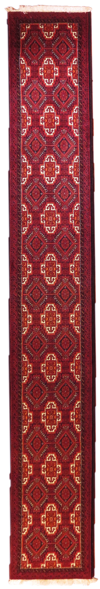 Persian Baluch Runner 2×12 Red Brown Wool Area Rug