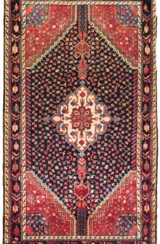 Persian Toyserkan Wool 4x6 Red Black Area Rug