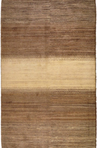 Persian Gabbeh 5x8 Brown Beige Wool Area Rug