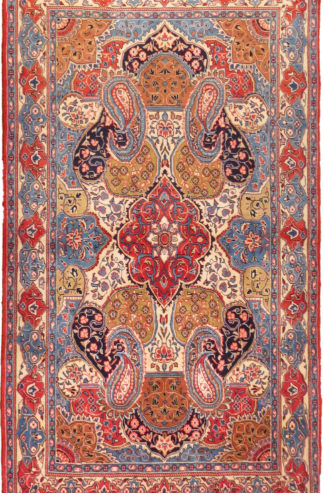 Persian Sarouk 4x7 Wool Area Rug