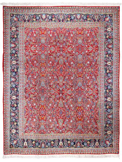 Persian Kerman 11x14 Wool Red Blue Area Rug