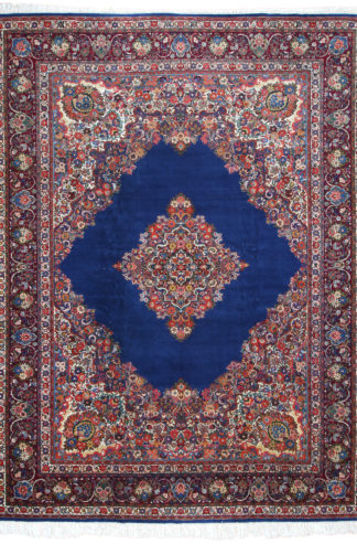 Fine Persian Kerman Yazd 10x14 Blue Area Rug