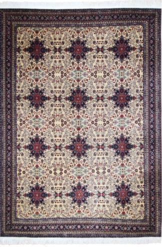 Fine Afghan Wool 10x13 Blue Ivory Area Rug