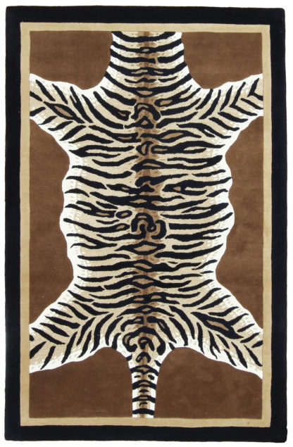Tiger Skin Design 5x8 Wool Area Rug