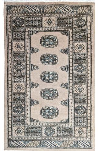 Pakistani Bokhara 3x4 Beige Wool Area Rug