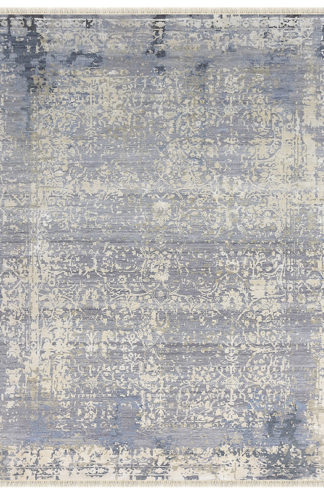 Silver Sand Transitional 8x10 Grey Ivory Area Rug