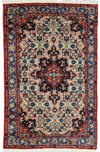 Persian Bidjar 3x5 Red Blue Wool Area Rug