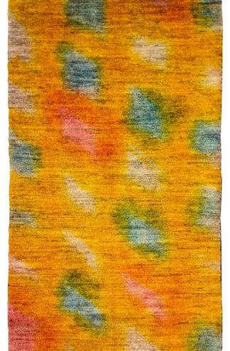 Hand Knotted Contemporary 3x5 Yellow Wool Rug