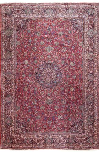 Persian Antique Kashan 12 x 18 Area Rug