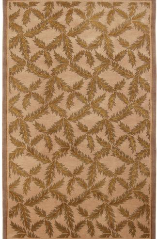 Hand Knotted Lattice Design 5x8 Area Rug