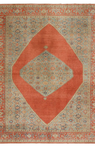 Hand Knotted Turkish Sultanabad Design 9x12 Area Rug