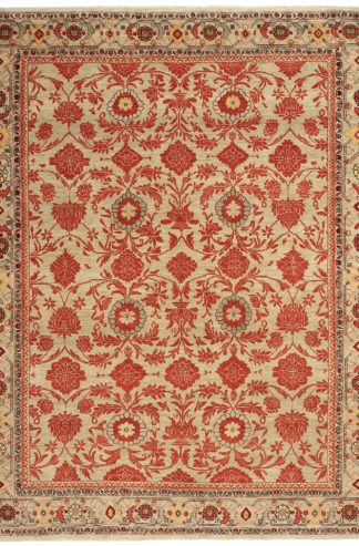 Persian Malayer 8'x11' Beige Rust Area Rug