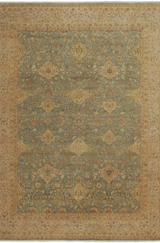 Tabriz Design India 9'x12' Wool Area Rug