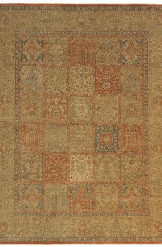 Tabriz Garden Design India 8' x 10' Wool Area Rug