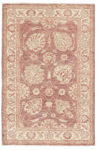 Hand Knotted Chobi 3x5 Lavender Wool Area Rug