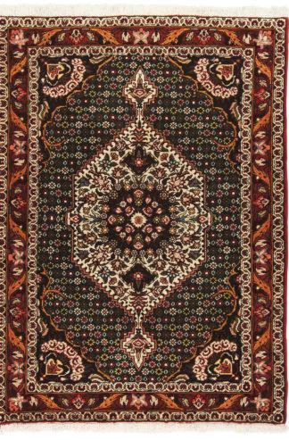 Persian Bakhtiari 4x5 Green Wool Area Rug