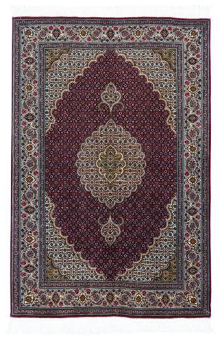Persian Tabriz Mahi 3x5 Burgundy Wool Area Rug