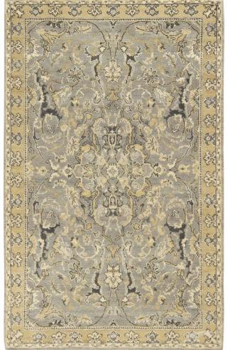 Transitional 3x5 Grey Beige Wool Area Rug