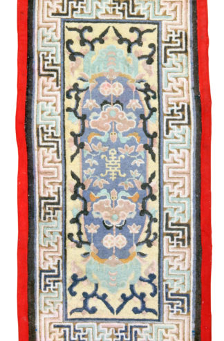 Antique Tibetan 2x5 Wool Area Rug