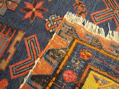 Antique Armenian Soumak Kilim 7x10 Red Blue Wool Area Rug