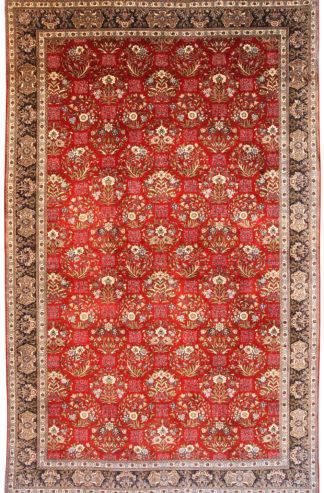 Persian Tabriz Wool 9x14 Red Area Rug