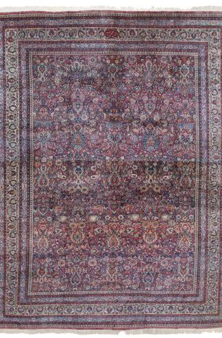 Makhmalbaf Mashad 16x22 Rose Wool Area Rug