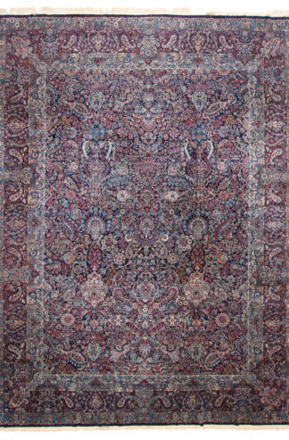 Antique Kermanshah 12x16 Blue Wool Area Rug