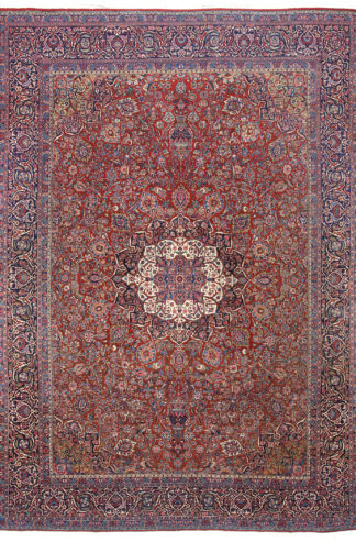 Extra-Fine Antique Persian Kashan 9x12 Area Rug