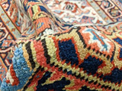 Persian Heriz Semi-Antique 3x4 Red Blue Wool Area Rug