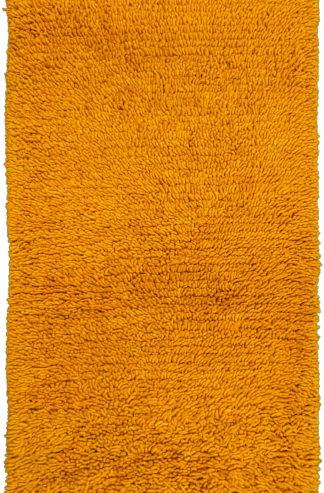 Wool Shag 3x5 Gold Yellow Area Rug