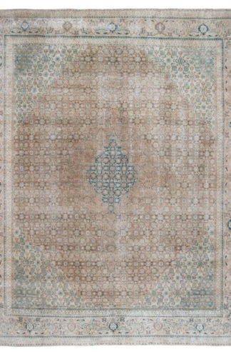 Second Life Vintage Wash 10x13 Green Wool Area Rug