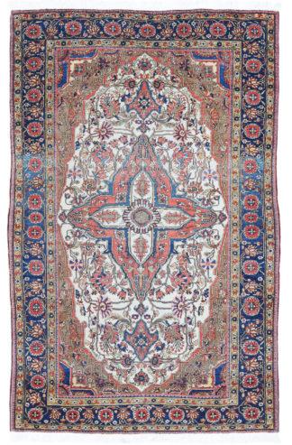 Antique Persian Kashan Mohtasham